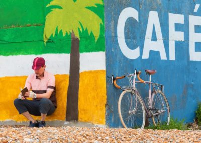 Journeys at Home - exercising my imagination beside a beachfront cafe in St Leonards-on-Sea