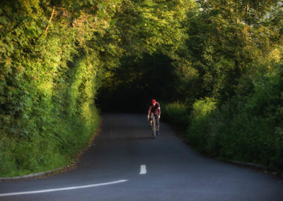 Sunrise finds me climbing a 14 per cent grade on a leafy lane in the Sussex Weald