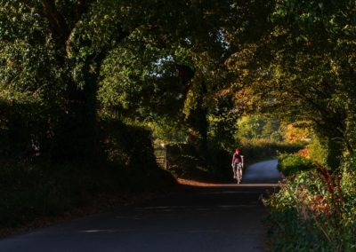 An early morning spin along Starvecrow Lane, near the village of Brede in East Sussex