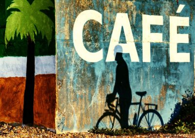 Murals on the old sea wall near the Bathing Hut Cafe on the seafront at St Leonards