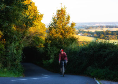 An early morning ride through the rolling landscapes of the Sussex Weald