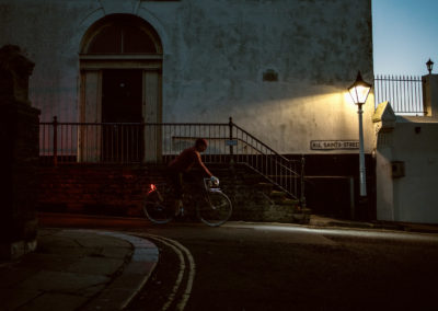 A pre-dawn spin along All Saints Street, Hastings old town