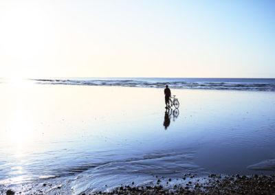 Low Tide, Hastings beach at sunrise