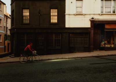 Chanelling Edward Hopper here. London Road, early Saturday morning.