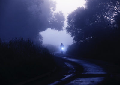 That time of year again - murky darkness in the mornings, autumnal mists and the need for a decent headlamp on a ride across the marshes