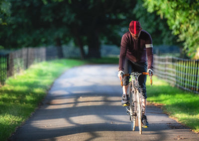 Self Portrait as A Cyclist - all of my images are about A Cyclist in the landscape rather than my personally.