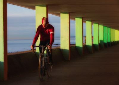A spin along Bottle Alley, on the seafront at Hastings