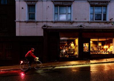 'Twas a dark and rainy morn..