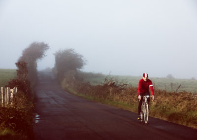 A misty ride across the marshes