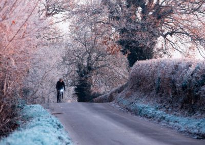 A heavy frost on the lanes near Wartling