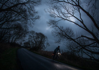 Dark and lonely night, on the marsh road to Pevensey