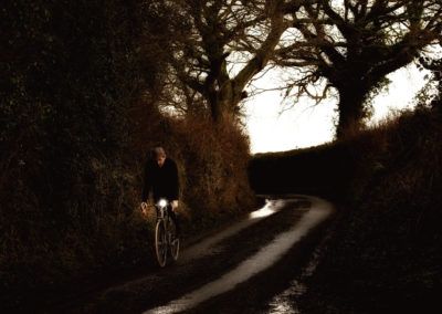 Like riding into a story book illustration - on a dark country lane near Herstmonceaux