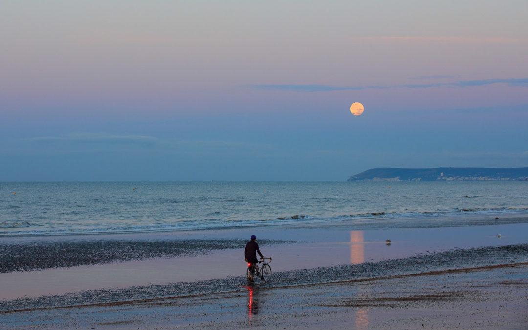 Barley Moon over Beachy Head