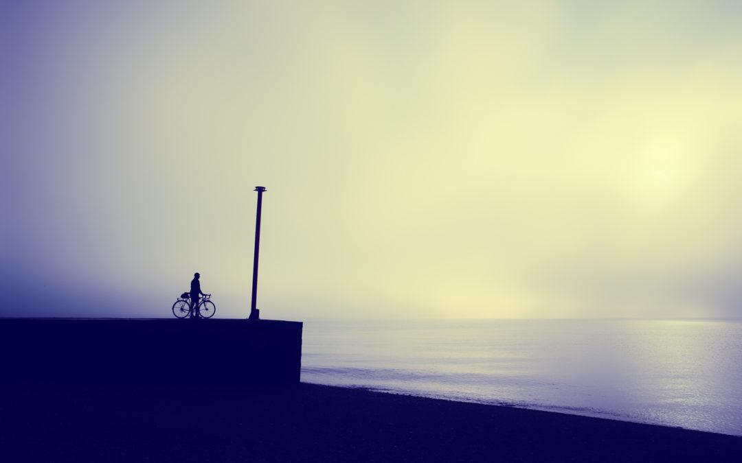 Foggy Dawn Over The English Channel