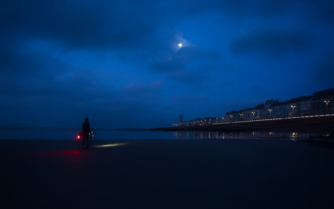 Wolf Moon Over Hastings, East Sussex