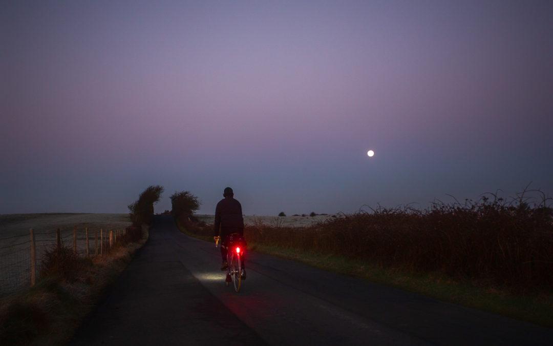 Moonset Over Pevensey Marsh
