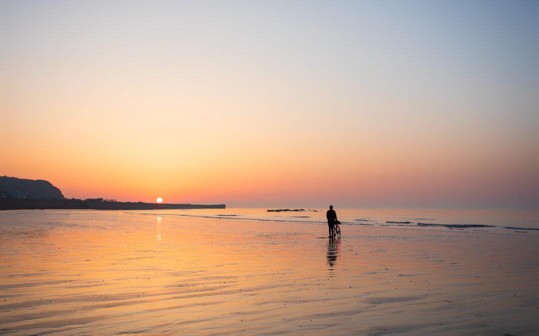 A Distant Sunrise, Hastings Beach