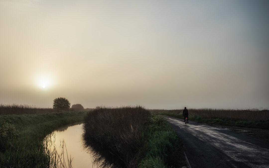 Sunrise in Mist, Pevensey Marshes
